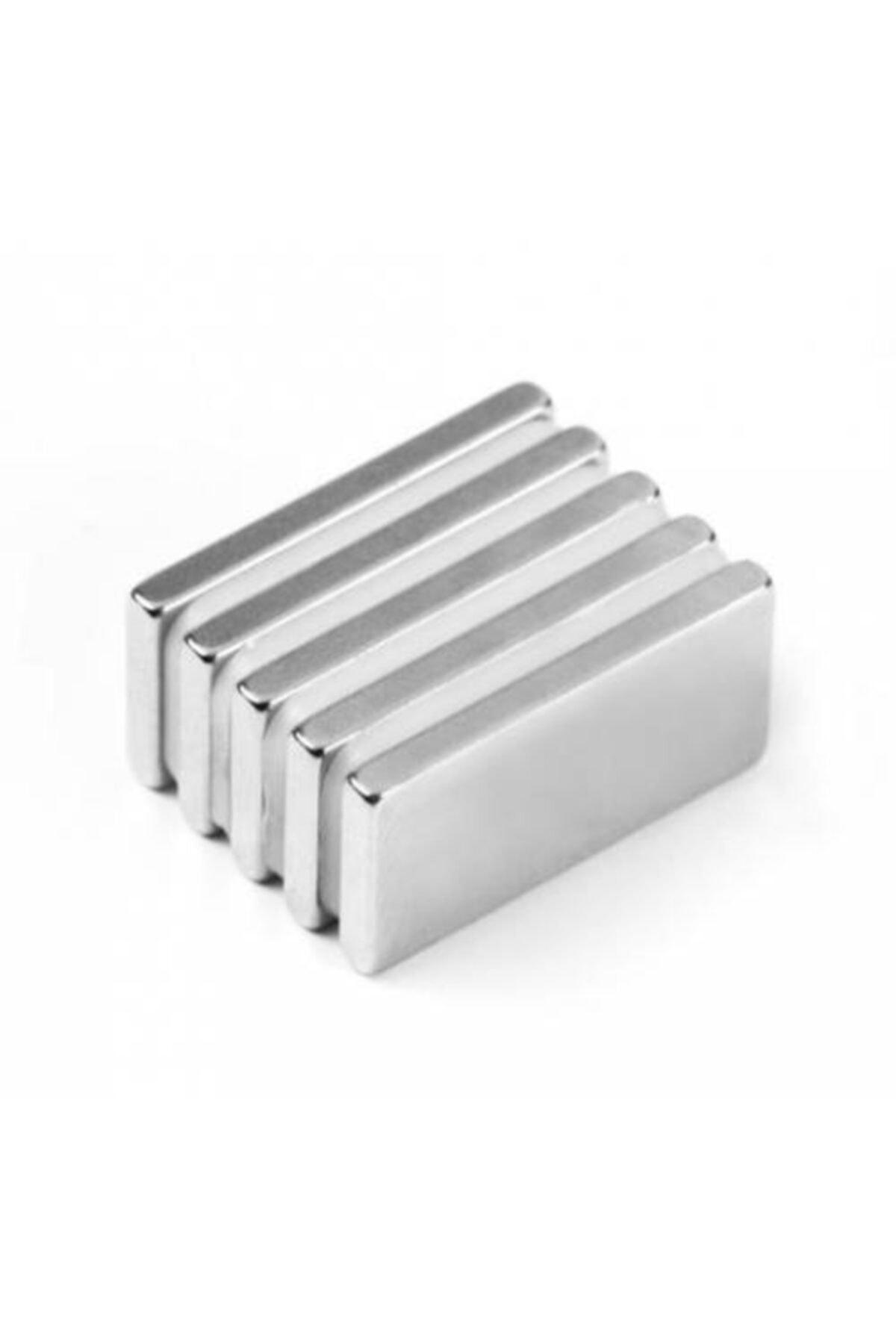 Dünya Magnet 5 Adet 20x10x3 Süper Güçlü Neodyum Mıknatıs Magnet 1