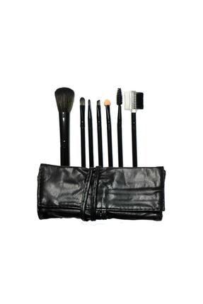 Makeuptime 7'li Deri Çantalı Fırça Seti Gold Renk