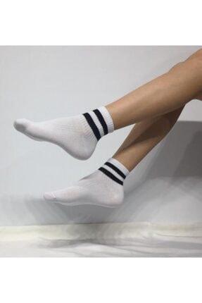 ADEL ÇORAP Kokulu Unisex Çizgi Desenli Kolej Çorabı