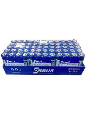ORBUS Aa Kalın Kalem Pil 4'lü Paket 60 Adet Kumanda Pili