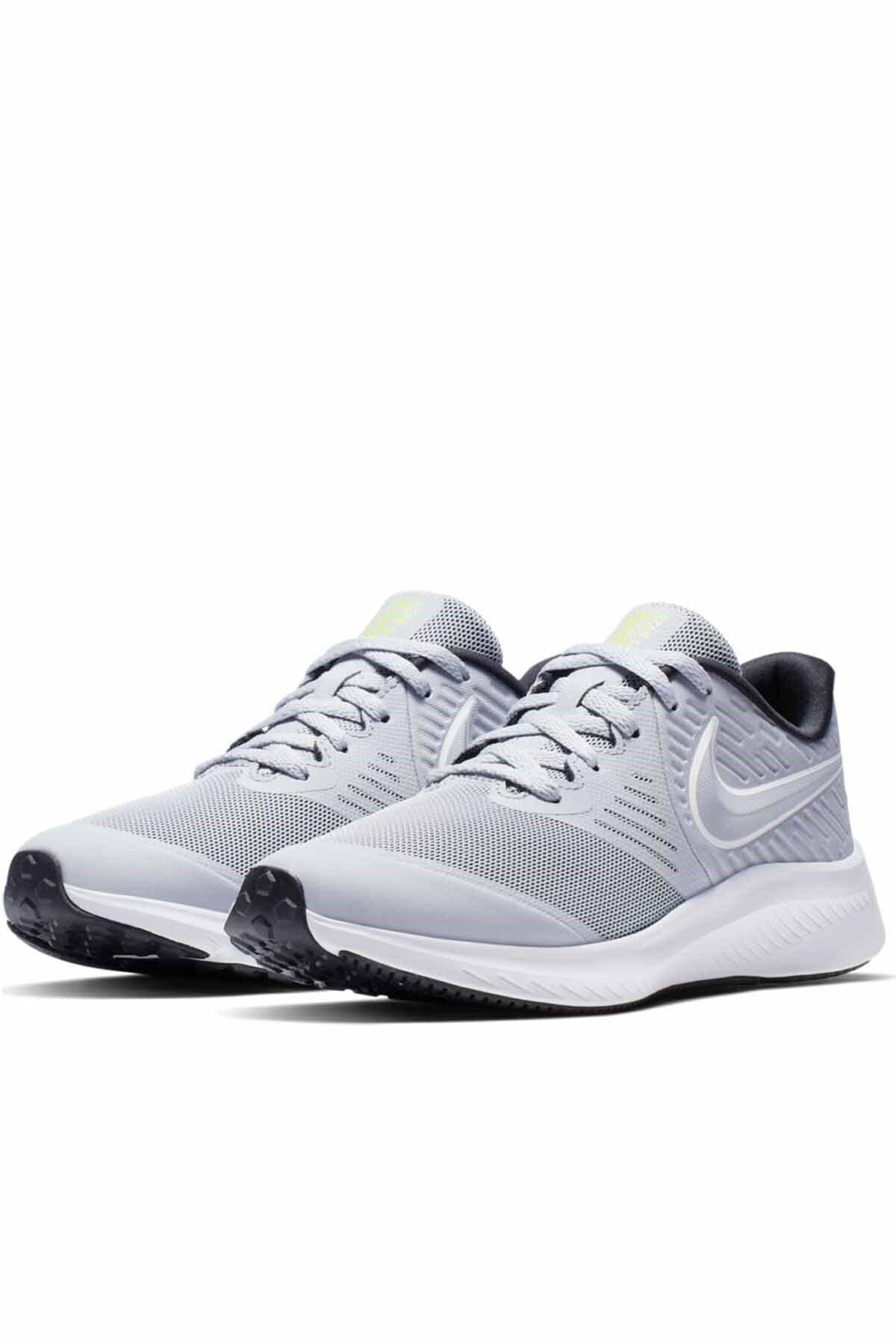 Nike Kadın Beyaz Spor Ayakkabı  Star Runner 2 Gs Aq3542-005 2