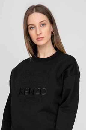 Kenzo Kadın Siyah Logolu Sweatshirt