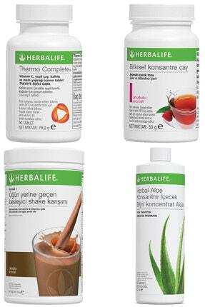 Herbalife Shake Çikolatalı  Thermo Complete Aloe Vera Içecek Ahududulu Çay 50 gr Birer Adet