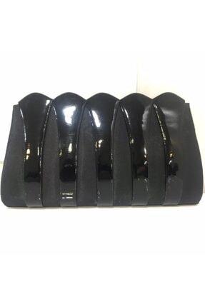 VAROL ÇANTA Kadın Siyah Saten Mini Portföy Çanta