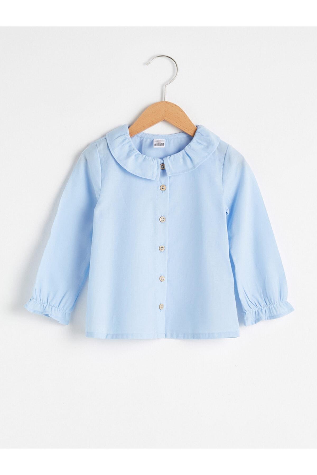 LC Waikiki Kız Bebek Mavi Gömlek 1