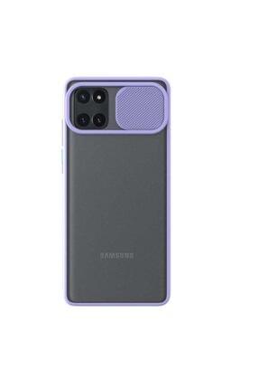 Samsung Teleplus Galaxy Note 10 Lite Kılıf Lensi Kamera Korumalı Silikon Mor