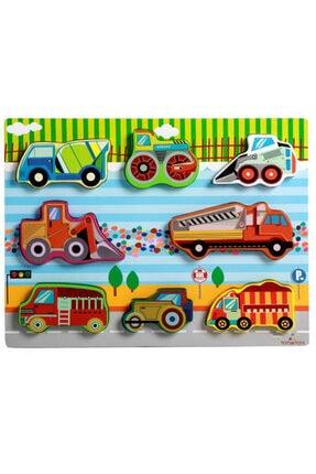 Wooden Toys 3d Ahşap Eğitici Tombul Garajım Eşleştirmeli Bultak Puzzle