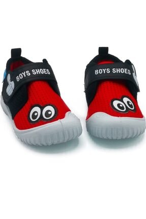 GEZER 03034 Siyah-kırmızı Çocuk Keten Ayakkabı Günlük Ayakkabı