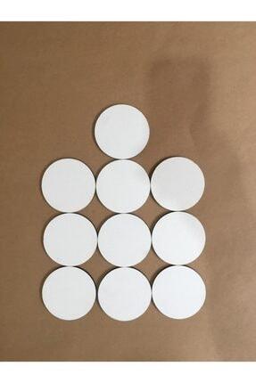 Palet Sanat 8 Cm Daire Pres Tuval 10'lu Set