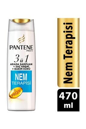 Pantene 3'ü 1 Arada Şampuan Ve Saç Bakım Kremi Nem Terapisi 470 ml