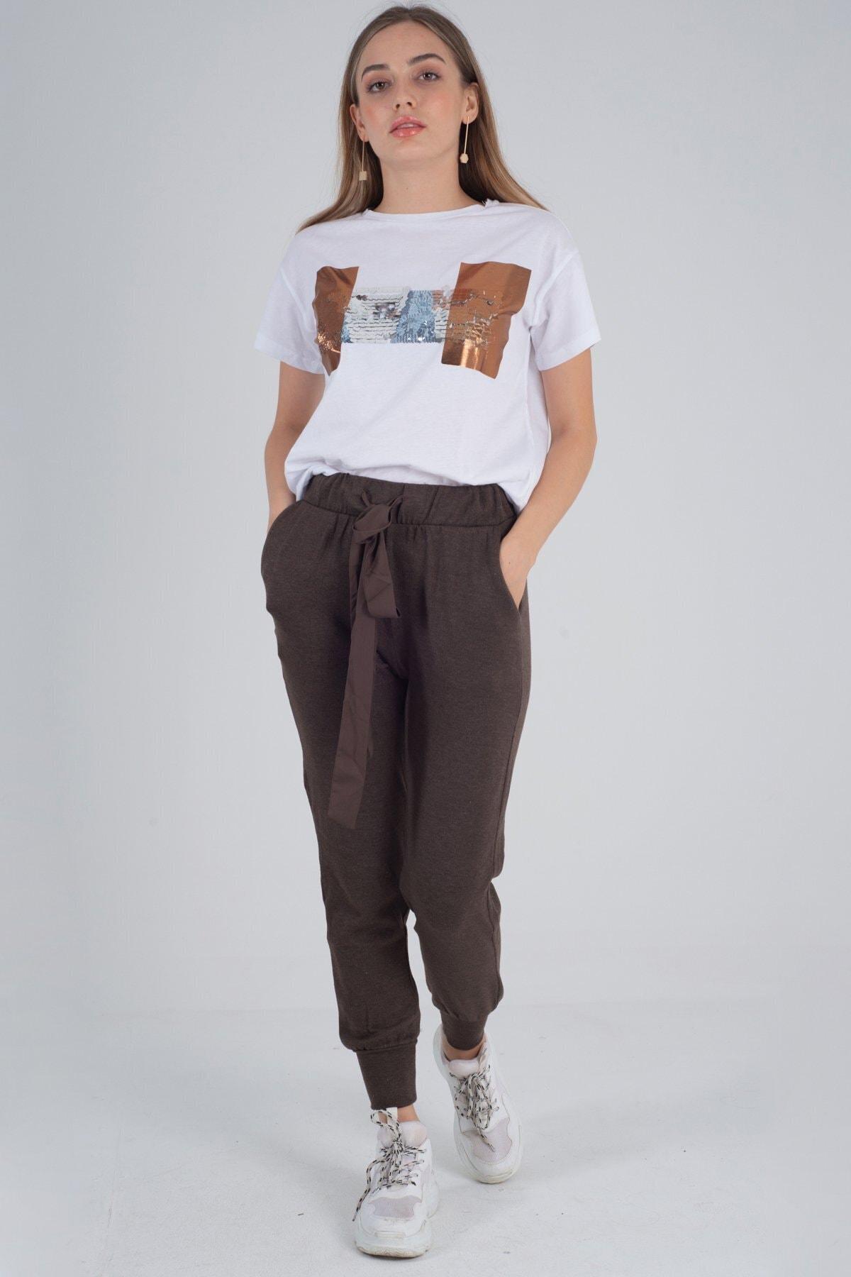 See Story Triko Paça Lastikli Pantolon 1