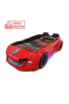 Özel Yapım Arabalı Yatak Kırmızı V8