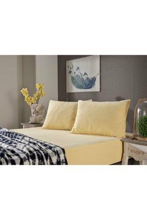Doqu Home Sarı Penye Çift Kişilik Çarşaf Takımı
