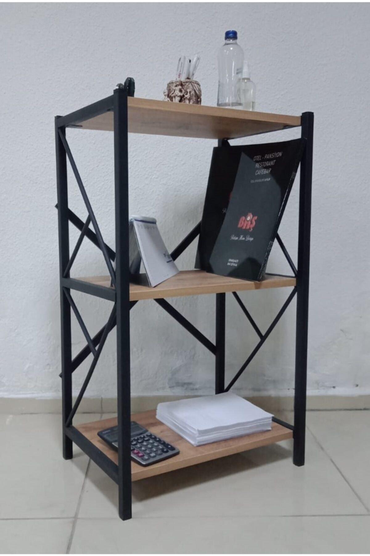 BRŞMOBİLYA Kitaplık / Metal Şık Kitaplık / Mini Metal Kitaplık 1