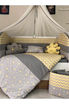 Mini Baby Figürlü Sarı Bebek Uyku Seti 11 Parça 70 cm x 130 cm