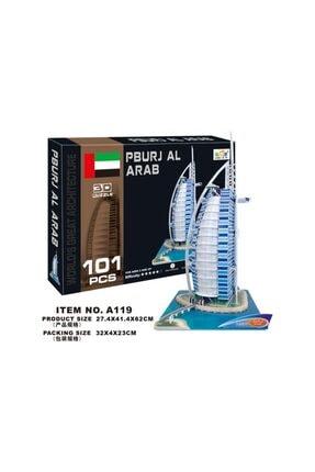 linglesi Cc Oyuncak 3d Puzzle Pburj Al Arab - 101 Parça