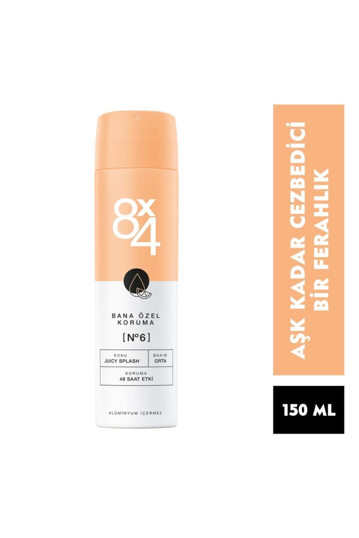 8x4 Kadın Deo Sprey No:6 Juicy Splash 150 ml 2