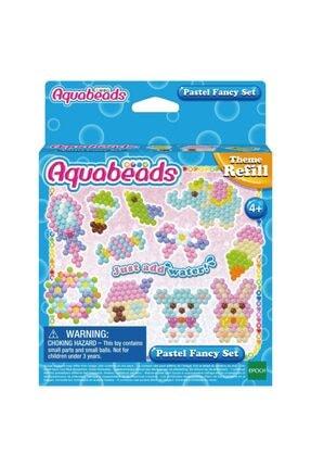 Aqua Beads Pastel Renk Yedek Boncuk Seti