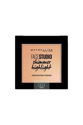 Maybelline New York Aydınlatıcı - Face Studio Shimmer Highlight 003 Rose 3600531542894