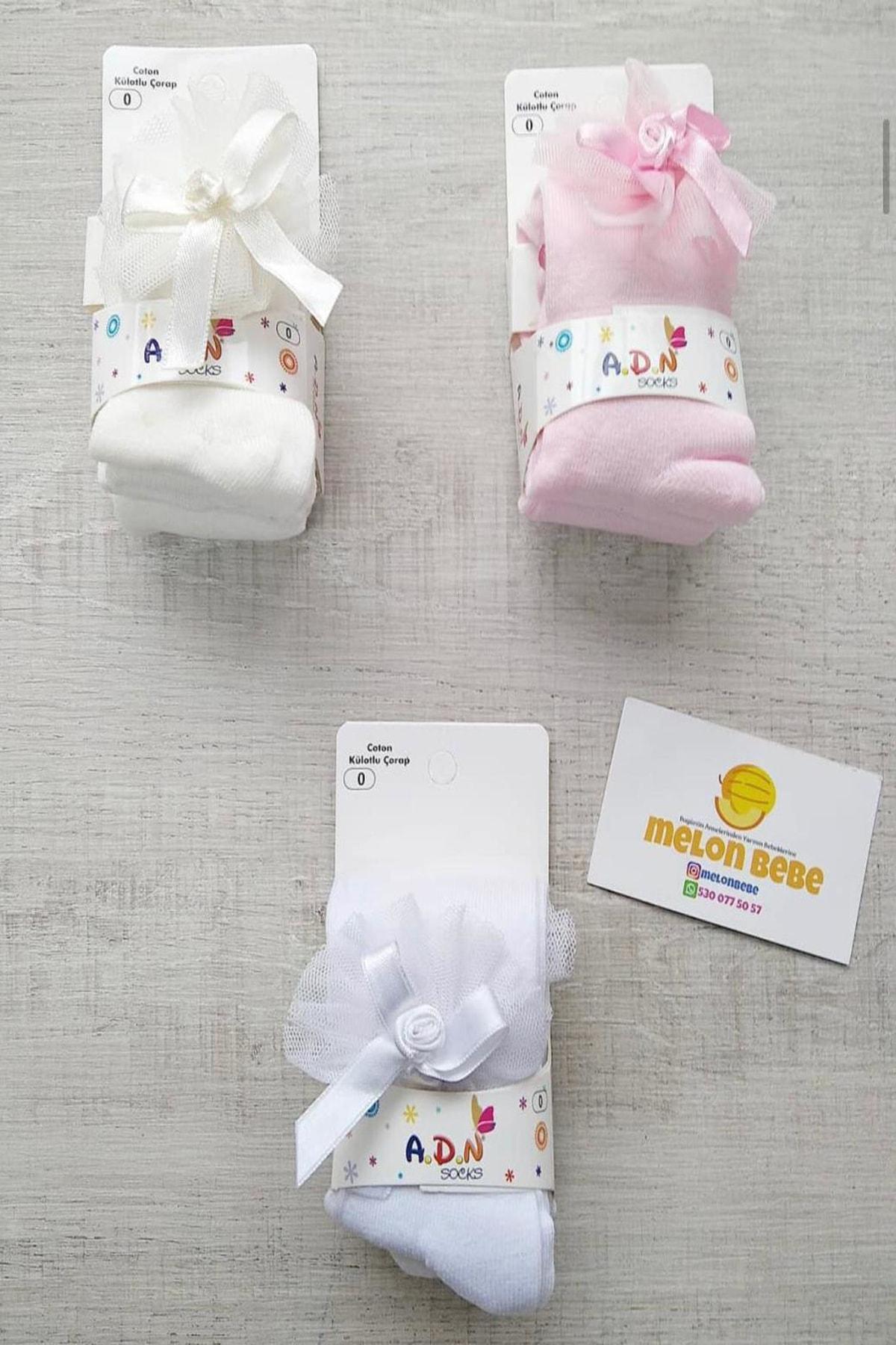 Bebek Exclusive Fiyonklu Pembe Renk Bebek Külotlu Çorap 1