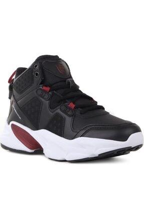 MP 202-1400 Comforlite Spor Ve Basketbol Ayakkabısı Siyah Kırmızı