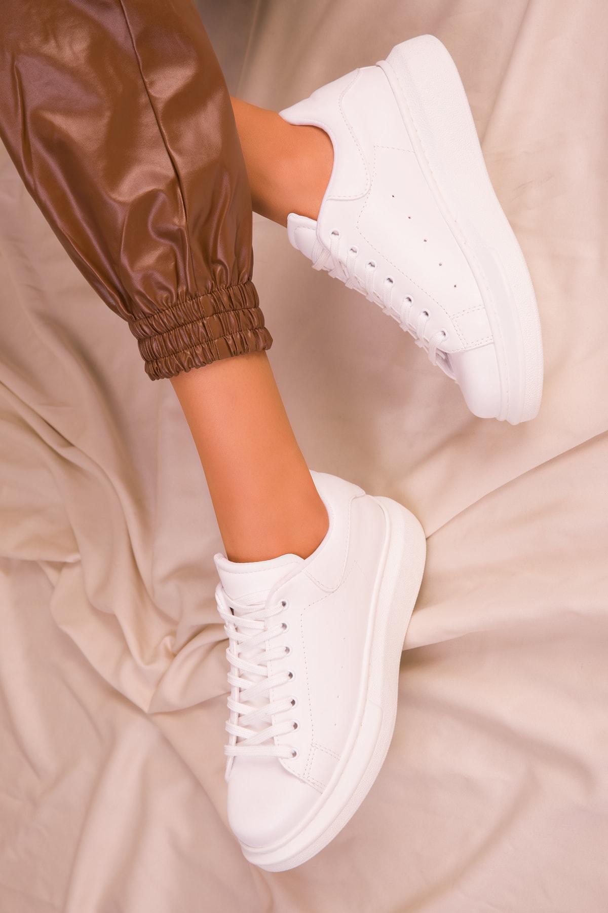 SOHO Beyaz Kadın Sneaker 15732 2
