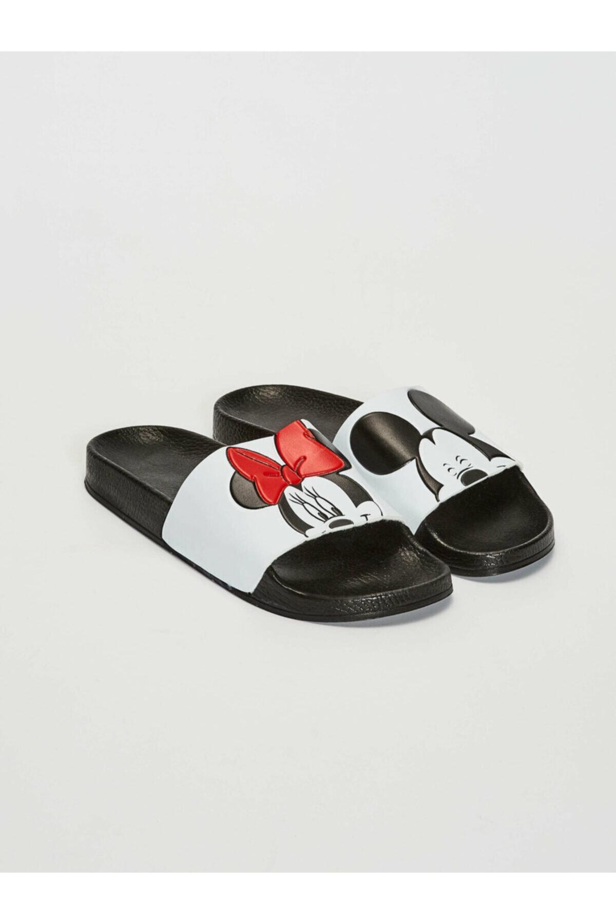 LC Waikiki Minnie Mouse Kadın Beyaz J5E Terlik 1