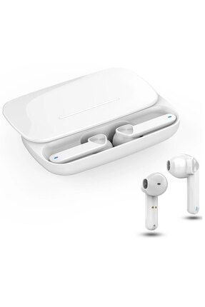 Escom Samsung Galaxy S20, S20 Fe Uyumlu Earbuds Beyaz Kızaklı Bluetooth Kulaklık