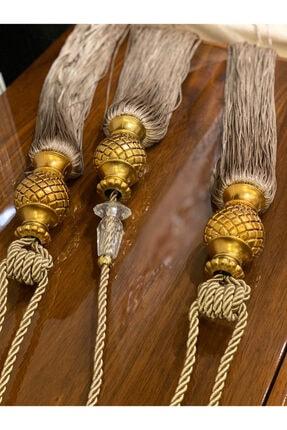 Sarar Evinisendiz Fonperde Bağlama Aparatı-3 Lü Broçol Set -takmatik Gold-gold