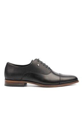 MARCOMEN Erkek Siyah Lazer Klasik Ayakkabı