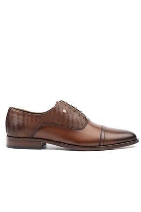 MARCOMEN Erkek Kahverengi Lazer Klasik Ayakkabı