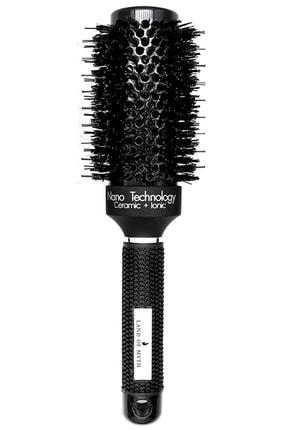 LAND OF MYTH 45 mm Nano Teknoloji Seramik Iyonik Termal Fön Saç Fırçası Doğal Kıl Diş Profesyonel Seri