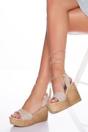 derithy Kadın Ten Dolgu Topuklu Ayakkabı