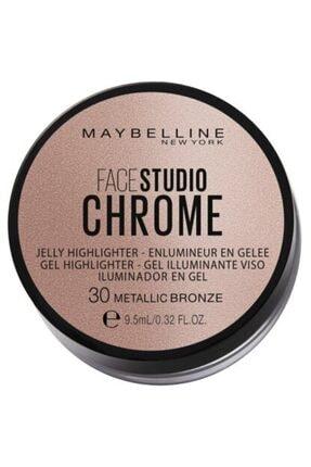 Maybelline New York Jel Aydınlatıcı - Face Studio Chrome 30 Metallic Bronze 30175785