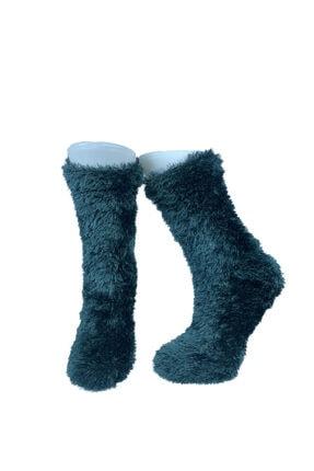 ADEL ÇORAP Mavi Renkli Peluş Soket Çorap