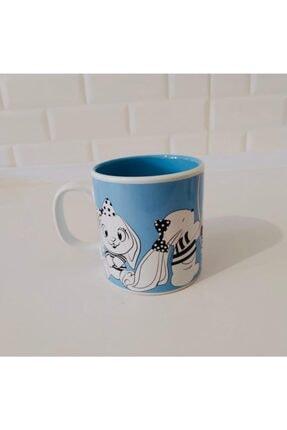 Keramika 10 Cm Çift Renk Kupa Mavi