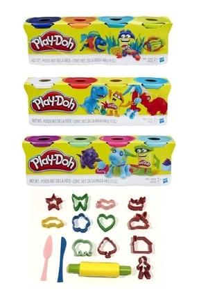 Play Doh 12 Renk Oyun Hamuru Ve 15 Parça Kalıp Seti Hediyeli