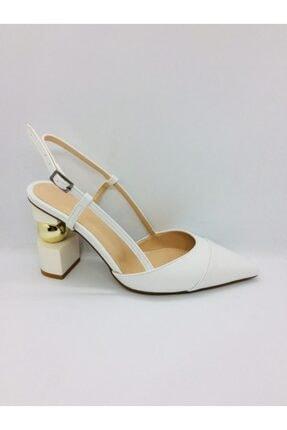 PUNTO Kadın Beyaz Topuklu Ayakkabı 299003