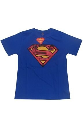 Superman Unisex Mavi Orijinal Lisanslı Tshirt