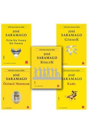 Kırmızı Kedi Yayınevi Jose Saramago Set 5 Kitap Körlük  Görmek  Kabil Ölümlü Nesneler Ölüm Bir Varmış Bir Yokmuş