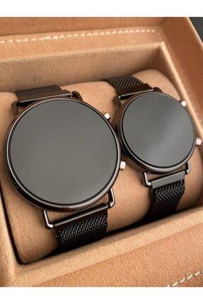 Gold Time Tuşlu Dijital Mıknatıslı Çift Kombini Sevgili Saatleri