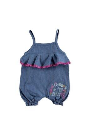 HelloBaby Kız Bebek Lacivert İlk Yaz Tema Tulum
