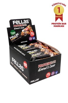 Fellas Yüksek Protein Bar - Bademli ve Kakaolu 45 gr x 12 Adet