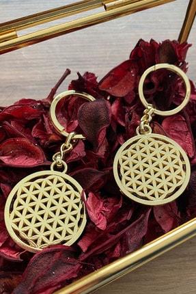Fatma Aydın Yaşam Çiçeği Gold Ve Gold Anahtarlık Set