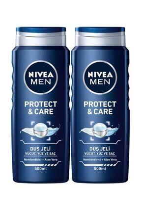 Nivea Men Protect & Care Erkek Duş Jeli 500 ml x 2