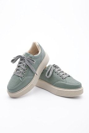 Marjin Kadın Yeşil Kalın Taban Sneaker Ayakkabı Azin