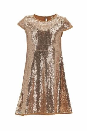 DeFacto Kız Çocuk Kısa Kol Payetli Elbise