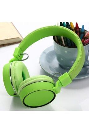 BLUPPLE Tv10 Kafa Bantlı Super Bass Mikrofonlu Kablolu Kulaküstü Kulaklık Yeşil Çocuk Genç