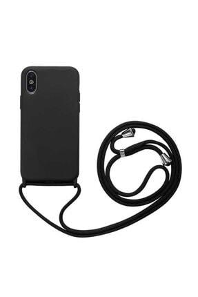 TeknoDuvar Apple Iphone Xs Max Ropi Omuz Boyun Ipli Askılı Renkli Silikon Kılıf Kapak