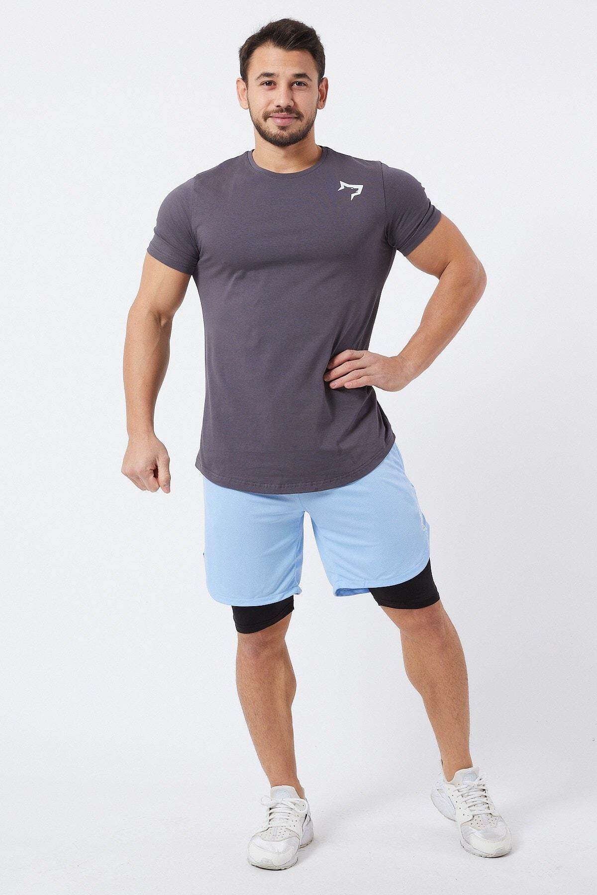 Gymwolves Spor Erkek T-Shirt | Füme | T-shirt | Workout Tanktop | 2